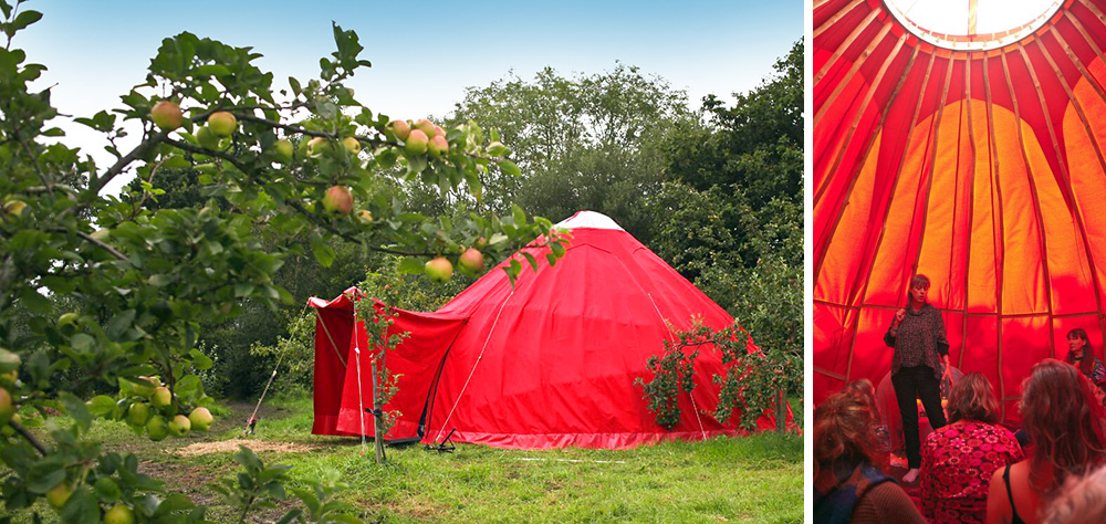 Wood Sister Red Tent