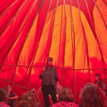 Sue storyteeling in the red Tent