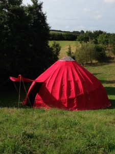 The Red Tent pitched for Lughnasadh